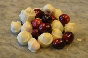 white chocolate dipped cranberries